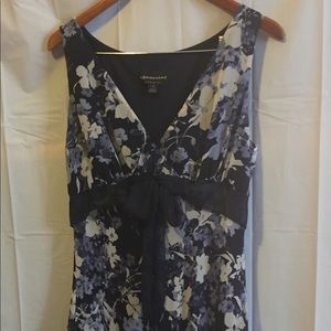 Navy Floral Lined Sundress